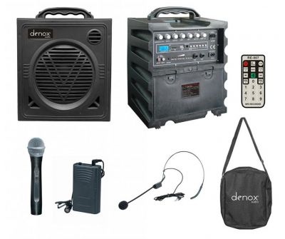 Denox - Denox DN-P1125 Taşınabilir Portatif Ses Sistemi