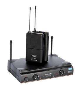 Doppler - Doppler DM-152B Çift Anten Çift Yaka Telsiz Mikrofon