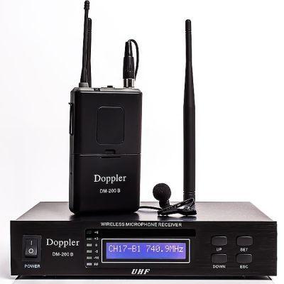 Doppler - Doppler DM-200B Çift Anten Tek Yaka Telsiz Mikrofon