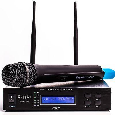 Doppler - Doppler DM-200H Çift Anten Tek Yaka Telsiz Mikrofon