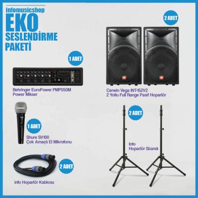 InfoMusic Paket Sistemler - infomusicshop - Eko Seslendirme Paketi
