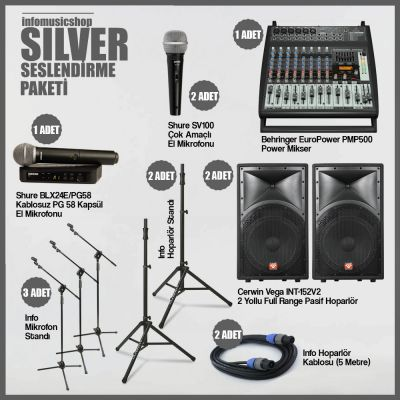InfoMusic Paket Sistemler - infomusicshop - Silver Seslendirme Paketi