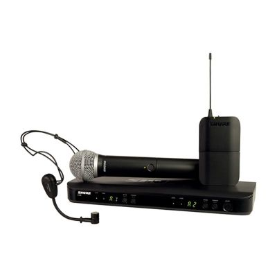 Shure - Shure BLX1288E/P31 Kablosuz İkili EL ve Headset Mikrofon seti