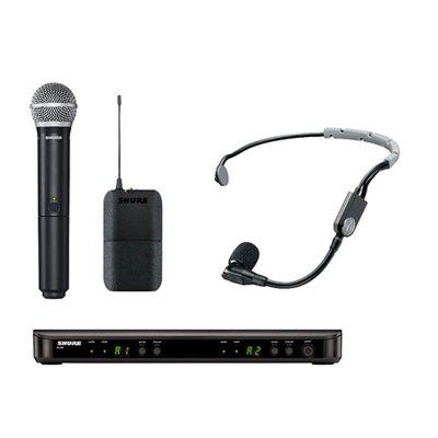 Shure - Shure BLX1288E/SM35 Kablosuz İkili EL ve Headset Mikrofon seti