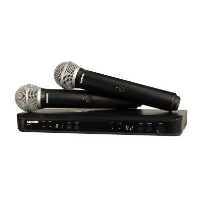 Shure - Shure BLX288E/SM58 Kablosuz SM 58 Kapsül ÇİFT El Mikrofonu