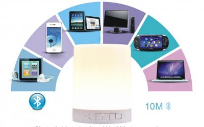 Vito - Vito Smart Senso Led Işıklı Bluetooth Hoparlör (1)
