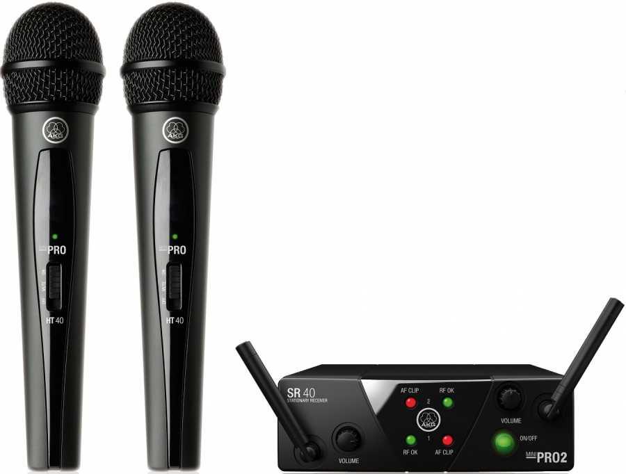 Akg Wms 40 Mini 2 Vokal Wireless Mikrofon Seti