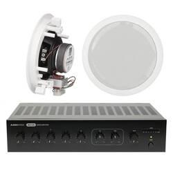 AMC - AMC Giriş Seviyesi Cafe-Mağaza Ses Sistemi Paketi (Tavan Hoparlör)