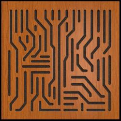 Artnovion - Artnovion Azteka (Wenge) - Absorber (8 Adet 60 x 60 cm)