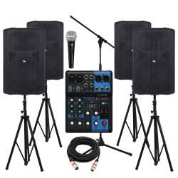 InfoMusic Ses Paketleri - Büyük Aktif 12'' Etkinlik, Düğün, Konferans ve Okul Ses Sistemi Paketi