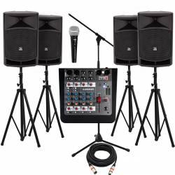 InfoMusic Ses Paketleri - Büyük Aktif 15'' Etkinlik, Düğün ve Okul Paketi