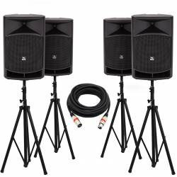 "InfoMusic Ses Paketleri - Büyük Portatif Aktif 15"" Kablosuz Paket Sistem"