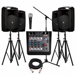 """InfoMusic Ses Paketleri - Büyük Proel V Serisi 12"""" Portatif Etkinlik Düğün-Okul Paketi"""