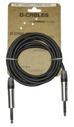 D-Cables - D-CABLES Dynamic Cables 3 Metre TRS Stereo(jack) to TRS Stereo(jack)