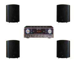 InfoMusic Ses Paketleri - Denox Küçük Cafe Ses Sistemi Hoparlör Paket