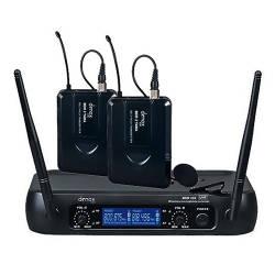 Denox - Denox MDR-220 Çift Yaka Kablosuz Telsiz Mikrofon