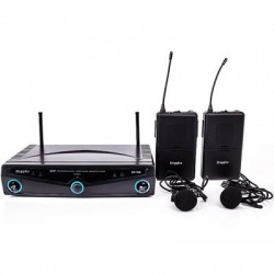 Doppler - Doppler DM-102B Çift Anten Çift Yaka Telsiz Mikrofon
