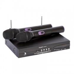 Doppler - DM-102H 2 li El Kablosuz Mikrofon UHF Çift Anten