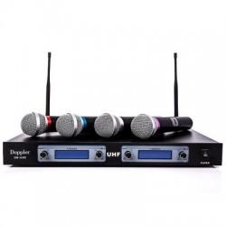 Doppler - Doppler DM-104H Çift Anten Dört El Telsiz Mikrofon