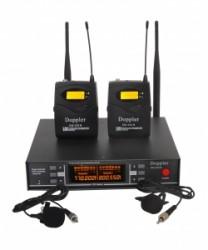 Doppler - Doppler DM-252B Çift Anten Çift Yaka Telsiz Mikrofon