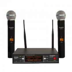 Doppler - Doppler DM-252H Çift Anten Çift El Telsiz Mikrofon
