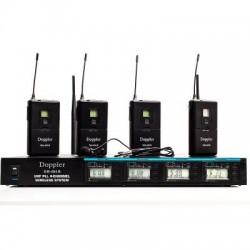 Doppler - Doppler DM-404B Çift Anten Dört Yaka Telsiz Mikrofon