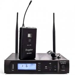Doppler - Doppler DM-500B Çift Anten Tek Yaka Telsiz Mikrofon