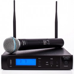 Doppler - Doppler DM-500H Çift Anten Tek El Telsiz Mikrofon