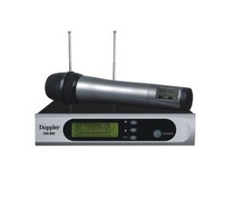 Doppler - Doppler DM-800H Çift Anten Tek El Telsiz Mikrofon