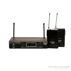 Doppler - Doppler VH-912B Çift Anten Çift Yaka Telsiz Mikrofon