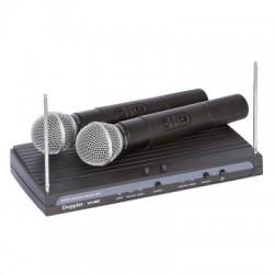 Doppler - Doppler VH-912H Çift Anten Çift El Telsiz Mikrofon