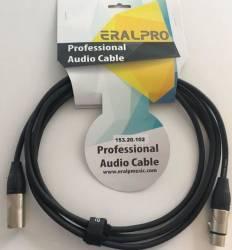 EralPro - Eralp Pro Cable 3 Metre XLR to XLR Mikrofon Kablosu