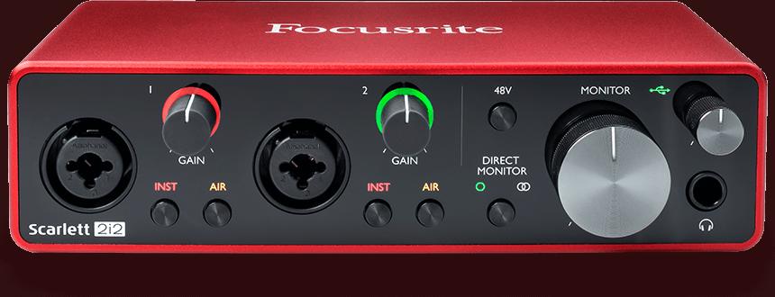 Focusrite Scarlett 2i2 Gen3 USB Ses Kartı