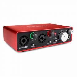 Focusrite Scarlett 2i2 MK2 2 giriş, 2 çıkış USB 2.0 Ses kartı - Thumbnail