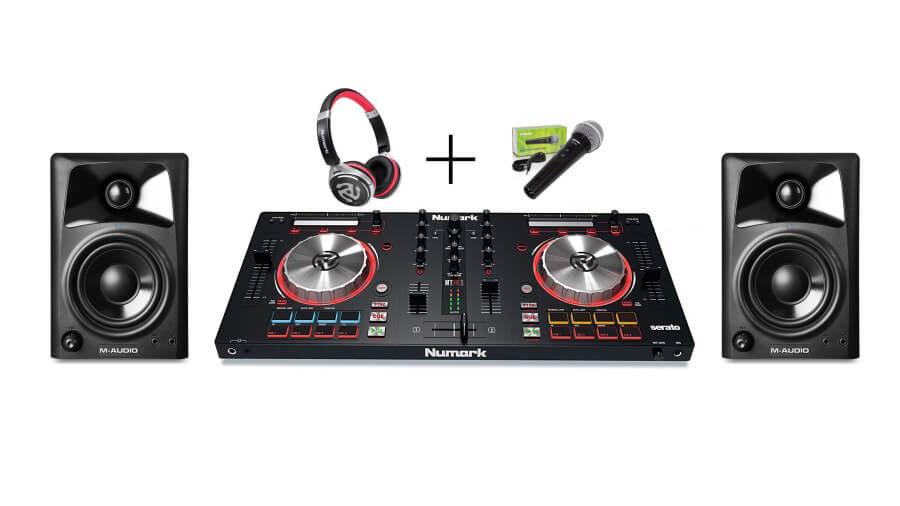 InfoMusic Mixtrack Pro Paket (Kontroller + Kulaklık + Hoparlör + Mikrofon)