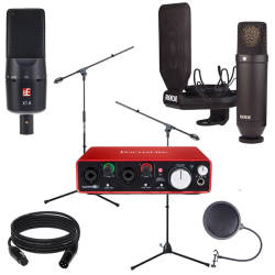 InfoMusic Stüdyo Paketleri - InfoMusic Vokal ve Enstrüman Kayıt Paketi (X1-A + Rode NT1-Kit + Focusrite 2i2 Ses Kartı)