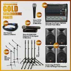 InfoMusic Paket Sistemler - infomusicshop - Gold Ses Sistemi Paketi