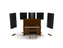 Lava Akustik - Lava Akustik Piyano Akustik Panel Premium 7'li Paket