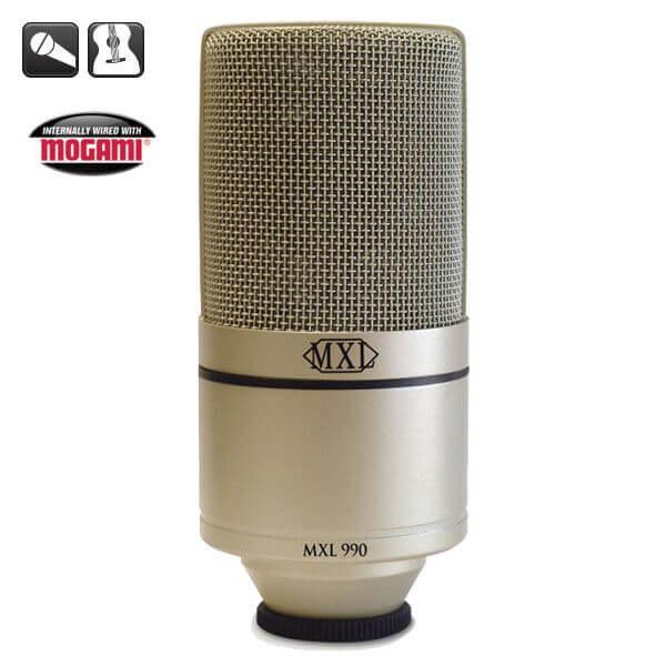 MXL 990 - Kardioid Pattern (Shock Mount-Taşıma Çantası Hediyeli)