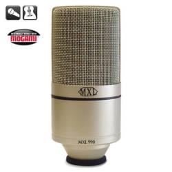 MXL Microphones - MXL 990 - Kardioid Pattern 20mm 6 Mikron Altın Diyafram Kapasitif Mikrofon