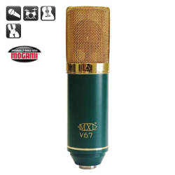 MXL Microphones - MXL V67G 1inch Altın Diyafram Condenser Microphone. 24K Altın Grill