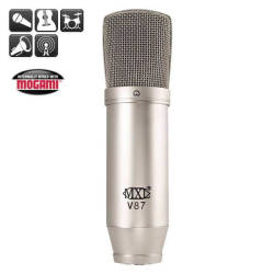 MXL Microphones - MXL V87 Düşük Gürültülü Kapasitif Stüdyo ve Broadcast Mikrofonu
