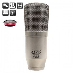 MXL Microphones - MXL V88 32mm Geniş Kapsül, 6 Mikron Diyafram Kapasitif Mikrofon