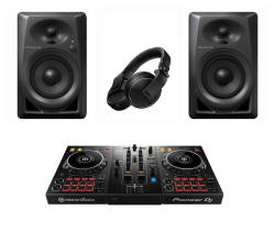 Pioneer DJ - Pioneer DJ DDJ 400 FULL PAKET (DM-40 Hoparlör ve HDJ X-5 ile)