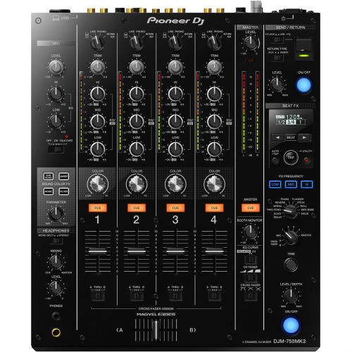 Pioneer DJ DJM 750 MK2 Profesyonel 4 Kanal DJ Mikseri