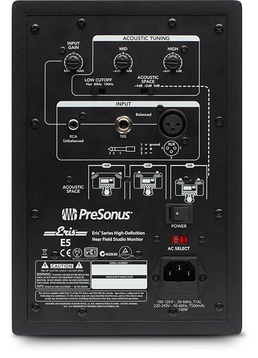 PRESONUS Eris E5 - 2-yollu Aktif Stüdyo Monitör (Çift)