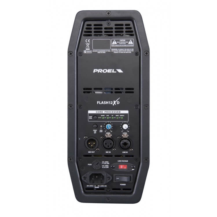"Proel FLASH 12 XD - 12"" 1000 Watt Aktif Hoparlör"