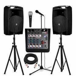 """InfoMusic Ses Paketleri - Proel V Serisi 12"""" Portatif Etkinlik Düğün ve Okul Paketi"""