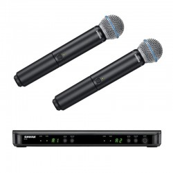Shure - Shure BLX288E/B58 Kablosuz BETA 58 kapsül ÇİFT El Mikrofonu