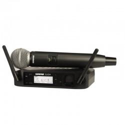 Shure - Shure GLXD24E/SM58 Kablosuz SM58 kapsül El Mikrofonu